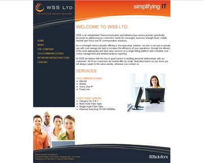 New website for Webbs Support Services Ltd