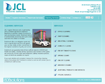 New web site for JCL Hygiene Services