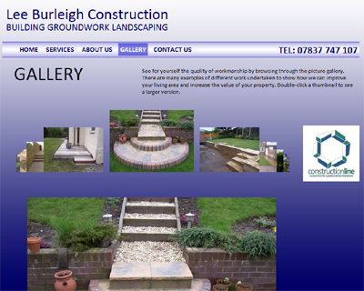 New web site for Lee Burleigh Construction