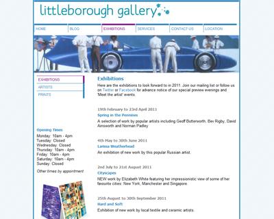 We maintain Littleborough Gallery's web site